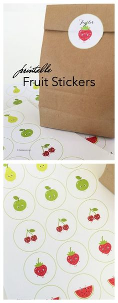 Back to School Ideas| Free Printable Fruit Stickers