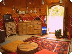pictures of inside yurts | Inside the Yurt by ~KisforKatieRose on deviantART