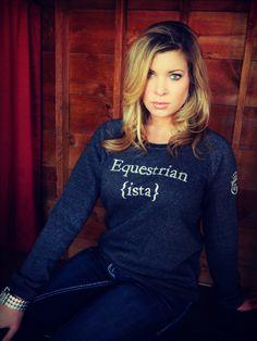 Equestrian Sweatshirt   Riding Apparel   Horse Clothing – Equestrianista LLC StyleMyRide.net @SMRequestrian #stylemyride #equestrian