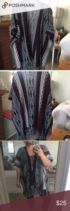 Selling this Open cardigan tribal Navajo print on Poshmark! My username is: as_gypsyboho. #shopmycloset #poshmark #fashion #shopping #style #forsale #Sweaters