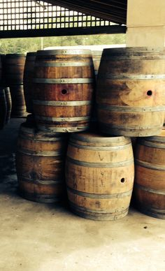 Wine barrels can be used to create unique indoor and outdoor projects. How could you use these? Any ideas?