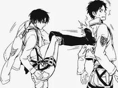 Levi kicks Eren