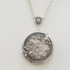 Cherry Blossom Locket Silver