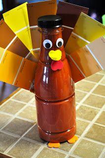 Paint Sample Turkey Craft