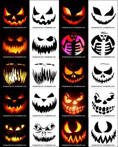 Today we are sharing Free Printable Halloween Pumpkin Carving Stencils, Patterns, Designs, Faces & Ideas Halloween Tags, Printable Halloween, Scary Halloween Pumpkins, Halloween Lanterns, Halloween Makeup, Scary Pumpkin Carving Patterns, Halloween Pumpkin Carving Stencils, Amazing Pumpkin Carving, Pumkin Stencils