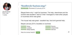 We get a thumbs up for business stay from our guest Gautam Rege from Pune.