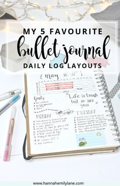 Change up your bullet journal pages with this daily log layout inspiration…