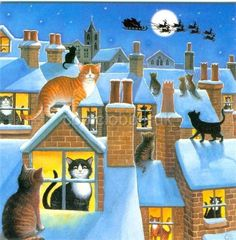 Cats Waiting for Santa <3