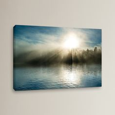 Found it at Wayfair - Rising Above The Water Photographic Print on Wrapped Canvas Rise Above, Office Art, Wrapped Canvas, Serenity, Canvas Prints, Wall Art, Landscape, Water, Home