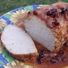Cranberry sauce, French salad dressing and sliced onions go for a long, slow simmer with a juicy pork roast.