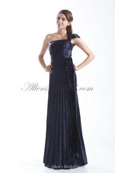 Satin One-Shoulder Neckline Floor Length Column Prom Dress on sale at affordable prices, buy Satin One-Shoulder Neckline Floor Length Column Prom Dress at AllensBridal.com now!