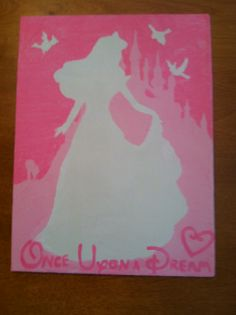 Love the idea of all Disney princess silhouettes for a little girl's room :)