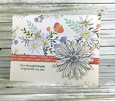 Delightful Daisies Stampin' Up! Daisy Delight Stamp Set, Daisy Punch, Delightful Daisy DSP, Clear Faceted Gem - Stamp Crazy with Alison!