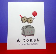 Birthday Card A Toast To Your Birthday Birthday by Nuts4Stampin