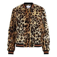 Faux leopard bomber jacket, leopard print, VILA (70.305 IDR) ❤ liked on Polyvore featuring outerwear, jackets, bomber jackets, leopard print bomber jacket, brown bomber jacket, faux-leather jackets and blouson jacket