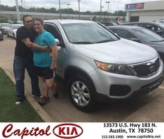 https://flic.kr/p/GnCyrF | Happy Anniversary to Sarah on your #Kia #Sorento from Ashley Adams at Capitol Kia! | deliverymaxx.com/DealerReviews.aspx?DealerCode=RXQC