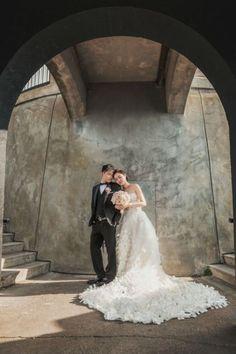 Stunning Fine Art Portraits of the Bride and Groom | SIM Wedding Photography on /myhotelwedding/ via /aislesociety/