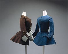 This Garment is a Riding Habit. A riding habit is a coat derived from an English man's riding coat this became popular during the century due to Anglomania. This garment is from Britain and was made in 1775 of silk and Goat hair. 18th Century Dress, 18th Century Costume, 18th Century Clothing, 18th Century Fashion, Historical Costume, Historical Clothing, Rococo, Riding Habit, Riding Jacket