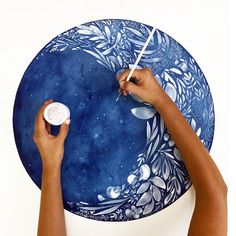 This high quality wall art was-Zunehmender Mond Kunstdruck. This high quality wall art was created with my … quality printing - Watercolor Moon, Watercolor Walls, Watercolor Illustration, Moon Illustration, Watercolor Pattern, Watercolor Flowers, Watercolor Paintings, Wall Art Uk, Moonflower
