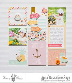 Summer Lovin' #layout by Anna Kossakovskaya for @fancypantsdsgns #scrapbooking
