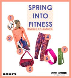 We're ready to pop some color into our fit wardrobe = Spring Into Fitness: #MakeYourMove and Try Something New with sponsor @kohls