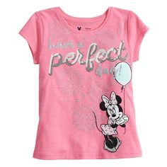 1fde69b046 Disney s Minnie Mouse Girls 4-10 Glittery Graphic Tee by Jumping Beans®