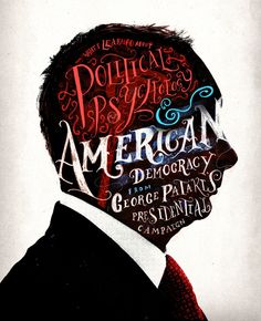 Peter Strain's cover illustration for National Journal involves plenty of thoughtful drawing and hand lettering. Political Psychology, Text Portrait, Types Of Lettering, Hand Lettering, Communication Art, Artist Portfolio, Why Do People, Portrait Illustration, Historian