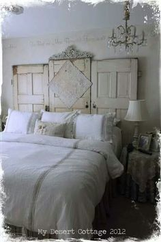 Schon Repurposed Doors Headboard   By My Desert Cottage   Great Salvage Project!  Decorating Before And After Design Ideas