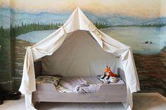 Dormir en una tienda de campaña ¡en casa! Dormitorios infantiles.  Camas para niños.  Camas originales.