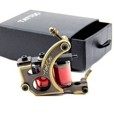 Tattoo Machine Gun CNC Carved Brass 12 Wrap Coils for Shader Supply Beauty Body Care -- You can find more details by visiting the image link.