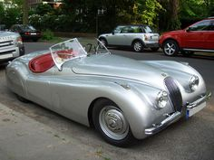 41. Jaguar XK120 (1948–1954)  The definitive postwar British car. The XK120's sleeker style greatly contrasts with the look of its prewar predecessor, the SS100.