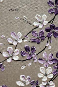 Original acrílico Impasto pintura en galería por TMKGallery en Etsy