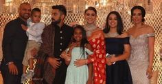 Shikhar Dhawan & family pose with newlywed Virat Kohli & Anushka Sharma - http://ift.tt/1ZZ3e4d