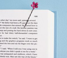 Really like this idea * Bobby pin used as bookmark