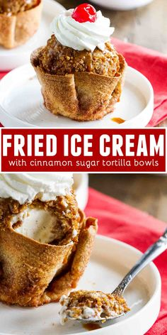 ice cream popsicle Finish off your Cinco de Mayo meal with this Fried Ice Cream Recipe that is served in cinnamon and sugar coated tortilla bowls. Crunchy on the outside, creamy on the inside - this is a dessert you wont be able to stop talking about. Ice Cream Desserts, Frozen Desserts, Ice Cream Recipes, Frozen Treats, Tortilla Bowls, Tortilla Dessert, Tortilla Recipe, Gelato, Salsa Guacamole