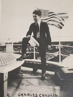 Charlie clowning on the boat to Hawaii, 1917
