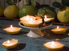 Velas artesanais de limão