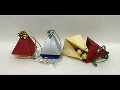 Christmas Tree Ornament Origami Box - YouTube