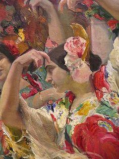 Joaquin Sorolla Painting People, Figure Painting, Painting & Drawing, Spanish Painters, Spanish Artists, Claude Monet, Valencia, Dance Paintings, Impressionism Art