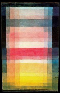 Paul Klee, Arquitectura de los niveles, 1923. Acuarela y lápiz sobre papel montado sobre cartón, 28 x 17.2 cm.