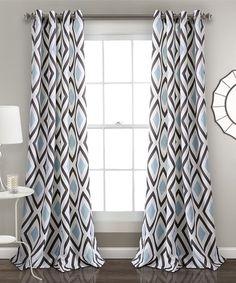 This Blue & Gray Diamond Kevin Room Darkening Curtain Panel Set is perfect! #zulilyfinds