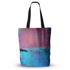 """Oriana Cordero """"Versailles-Abstract"""" Pink Blue Everything Tote Bag"""