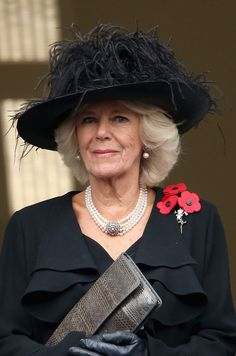 Camilla Duchess of Cornwall, November, 2014 in Philip Treacy at the Remembrance Service on Whitehall Remembrance Service, Remembrance Sunday, British Royal Family Members, British Royal Families, Camilla Parker Bowles, Camilla Duchess Of Cornwall, Duchess Of Cambridge, Windsor, Charles X