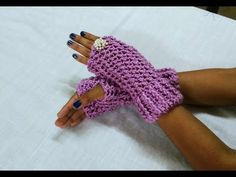 ENGLISH How to Crochet gorgeous finger-less gloves - YouTube