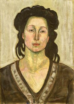Ferdinand Hodler - Portrait of Jeanne Cerani (1910)