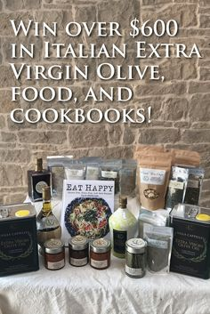 You could win over $700 in Italian Extra Virgin Olive Oil, Spices, Cookbooks, & more!  Just click to enter the contest.  I just did.  So should you!