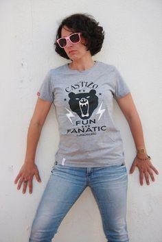Image of Camiseta FUN FANATIC - Mujer - Gris Jaspeado