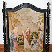 Antique Victorian Fireplace Screen | Ruby Lane - Antiques & Art . Vintage Collectibles . Jewelry