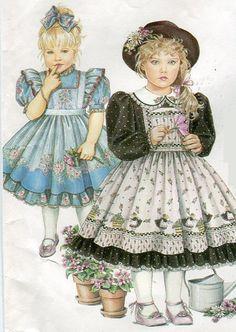 1990s Girls Daisy Kingdom Dress & Pinafore by PengyPatterns, $8.00