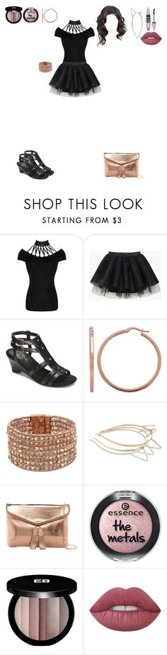 """""""Metallic Pop"""" by princess-cindy-dorough ❤ liked on Polyvore featuring A2 by Aerosoles, Kenneth Cole, Urban Expressions, Edward Bess, Lime Crime and Maybelline"""